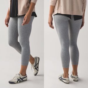 Lululemon Wunder Under Crop Leggings Gray